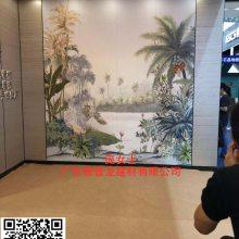 广安饭店一楼前台3D彩绘幕墙铝单板 欢迎来电咨询