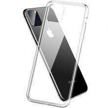 适用苹果11 Pro Max防爆玻璃款iPhone手机壳防摔玻璃透明壳批发厂