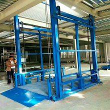 非标定制门头房专用导轨式升降货梯 二/三层跃层门面房升降机报价