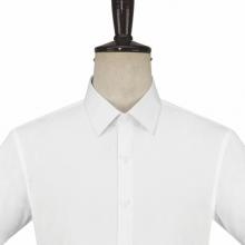 短袖衬衣订制,行政夏装订做,贵州高端男衬衣,MTG-331白色细斜纹全棉免烫正规领无胸袋短袖男衬衣