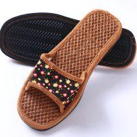 女士棕丝拖鞋批发35-39天然除臭纯手工橡胶底防滑山棕拖鞋