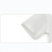 贵州商务夏装订做 批发零售男村衣 QDG-302 贵阳白色细斜纹天丝棉方领暗门襟短袖男衬衣