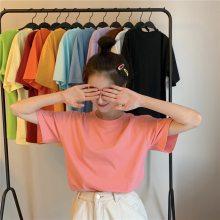 2020爆款新款夏季T恤韩版女装短袖便宜尾货几元T恤批发