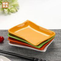 密胺盘子仿瓷餐具火锅店烤肉盘凉菜盘塑料长方形小吃碟蛋糕点心碟