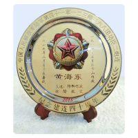 金属盘专业生产厂家太原纯铜纪念盘锌合金纪念盘奖盘设计制作高档纪念盘定做加工