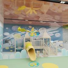 室内木质滑梯儿童休闲娱乐设施儿童乐园设备不锈钢滑梯室内游乐设计