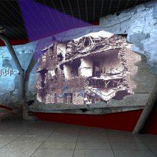 化人防民防专业设计,防灾在线展厅设,淘宝店标五星防空设计图图片