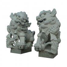 门口摆放石雕北京狮子 大型石雕狮子什么石头好
