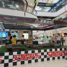 杭州艾星游乐132大型商用轨道赛车可变道 一键加速