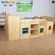 幼儿园区角柜 儿童小厨房套装 幼儿园储物收纳柜定制