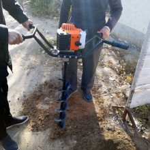 乐民地钻打孔机 大棚埋桩打孔机 埋桩立柱子挖坑机