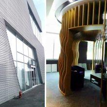 外墙立面门头铝板装饰安装_德普龙烤漆氟碳门头铝板批量供应