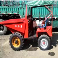 运输垃圾的液压翻斗车 分配合理的四轮翻斗车 农田左右工程拖拉机