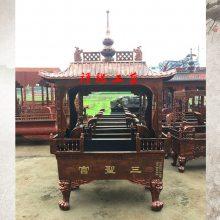 宫观念佛堂长方形带盖铸铁香炉/广东云浮祖堂大型露天香炉供应商