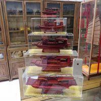 手工装饰船 工艺品 红船价格 实木定制