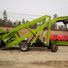 牧场大量草料装车用电动取料机 皮带输送饲草取料机 中泰机械