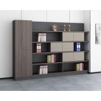 大型五层文件柜 书橱 背景荣誉展示柜子 老板办公室储物带挂衣杆家具