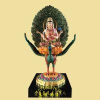 大梵天王,孔雀大明真人,树脂玻璃钢神像彩绘贴金河南亚博里面的AG真人厂
