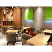 直销武汉餐饮店铺家具定制 酒店实木餐桌 酒店实木餐椅订做 韩尔轻奢品牌