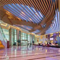 厂家弧形铝方通装饰材料酒店波浪铝方通 环保造型定制