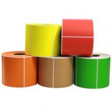 厂家直供 彩色铜板不干胶60*15*3000张标签纸 可印刷定制各种规格