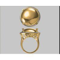 私人订制翡翠戒指 结婚 戒指 铜镀金戒指—金属首饰加工厂家