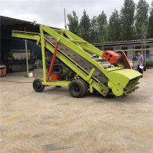 高效安全青贮取料机 抓取饲草料用伸高壁抓草取料机