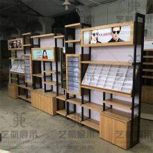 云浮新兴木纹眼镜展示柜台装修店铺设计报价