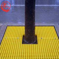 园林绿化工程25mm玻璃钢格栅树坑专用树篦子公园路边树坑格栅定做——河北龙轩