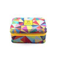 长方形连体翻盖马口铁盒 新颖茶叶铁盒包装设计 小号首饰礼品收纳盒