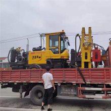 供应装载式铲车公路护栏立杆打桩机 打拔钻一体护栏钻孔
