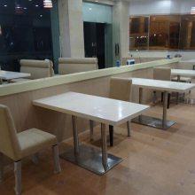 餐厅人造石桌子,大理石餐桌定做,深圳餐饮家私定制厂