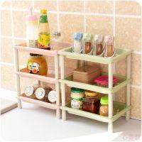 厨房单层小型置物架办公桌上多层收纳架卫生间新款塑料架子层架