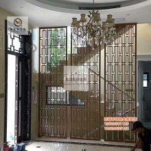 供应不锈钢会所酒店屏风 定制不锈钢钛金拉丝屏风 屏风加工厂家