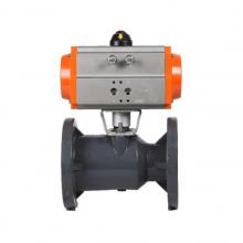 可诺泵阀Q641S气动PVC法兰球阀型号参数