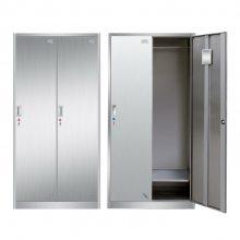 广东304不锈钢更衣柜201工厂员工储物浴室多门带锁挂衣寄存无尘柜子 金都熊猫***