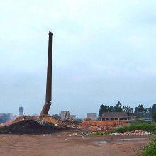 180米水泥烟筒人工拆除施工队