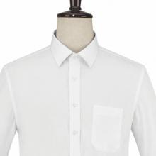 贵州男衬衫批发 商务衬衣订做 QDG-103 贵阳白色细斜纹天丝棉方领长袖男衬衣