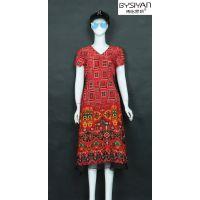 粉黛丽人19年夏装时尚连衣裙流行色系列 武汉大码走份批发品牌女装尾货厂家直供