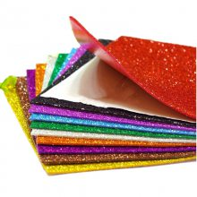 eva背胶彩色海绵纸手工diy材料闪光海绵纸泡沫纸金粉金葱海绵纸