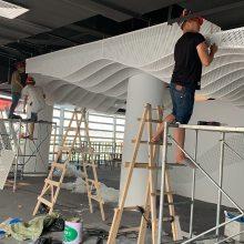 优质德普龙品牌异形冲孔铝板吊顶波浪形铝天花