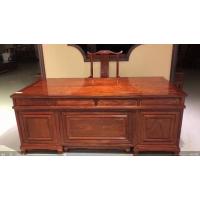 实木办公家具名琢世家刺猬紫檀2米办公桌