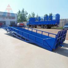 威海工厂装卸货物平台 集装箱登车桥 8吨移动式登车桥 6up传奇扑克 厂家定做