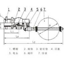 浮球阀(全铜)DN25 型号:H724X-4T(DN25)库号:M331437