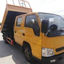 西藏那曲 双排座 江铃国五3.15米货厢自卸车 厂家直销 不超重 上户无忧