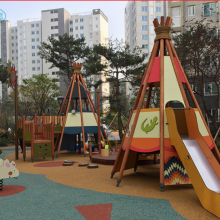 公园木质设施木质滑梯游乐设备木质组合滑梯儿童乐园小区公园木制设施
