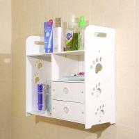 墙上置物架壁挂壁柜装饰架卧室厨房浴室收纳架吸盘式卫生间免打孔