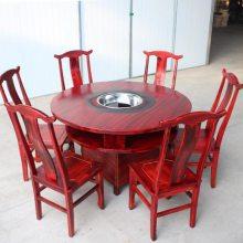 惠州餐饮家具厂,古典实木火锅桌,复古八仙火锅桌定做