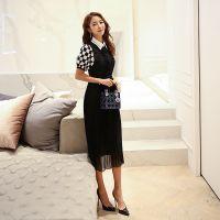 维依成都女装品牌尾单折扣批发折扣女装 杭州哪里有批发服装尾货的浅蓝色连衣裙
