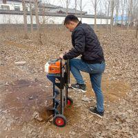 硬质土地挖坑机/大马力植树挖坑机/小型家用手提式打坑机价格